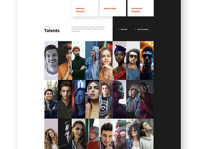 Cornerstone Sport Agency consulting agency sport minimal light user interface ui design web