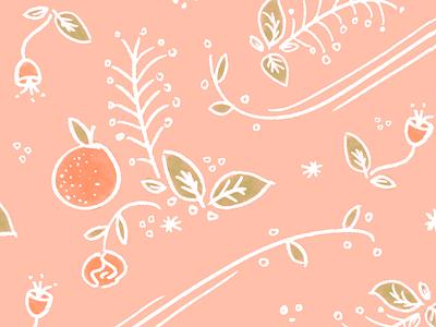 Sweet Orange surface pattern fifty fifty bar sweet orange creamsicle cute sketch pattern orange sweet