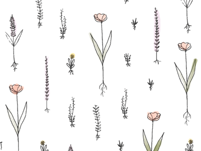 Grow. roots plants grow simple pattern sketch floral