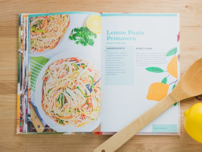 Adventures with Alice Cookbook in loving memory retro skillshare illustration layout 70s cook book cookbook