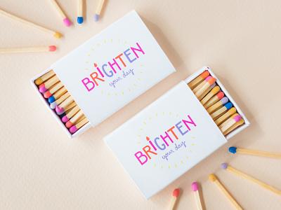 Circadian Collection Matchbox lettering hand-lettering cute candle packaging packaging matches tagline matchbox