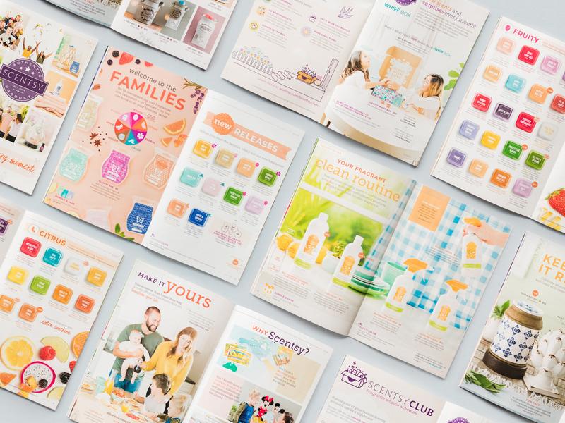 Scentsy SS19 Catalog art direction catalog fragrance layout magazine print