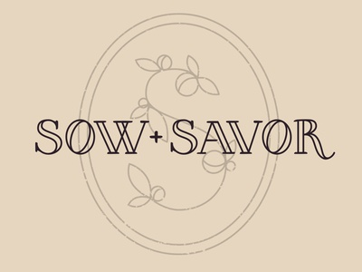 Sow + Savor Logo