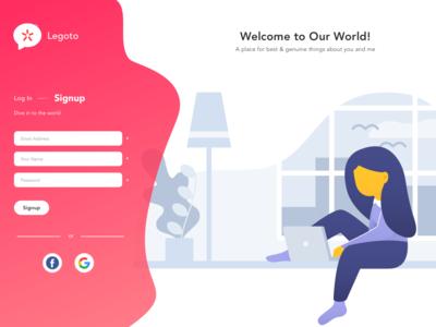 Signup Concept signup page signup form ui signup concept web design illustration signup