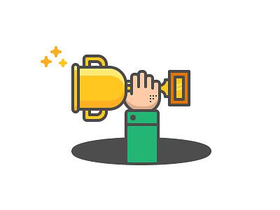 Winners illustration icon invitation drafted debut winner