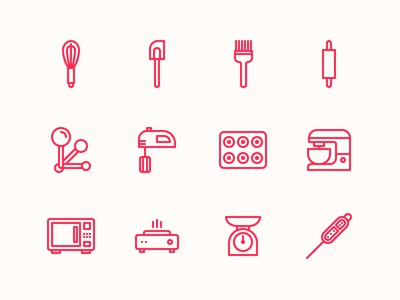 Baking Tools And Equipment baking tools & equipment iconstamzid hasan 🚀 - dribbble