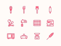 Baking Tools & Equipment Icons