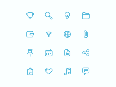 Common Icons: Part 02 design line icons iconography icon
