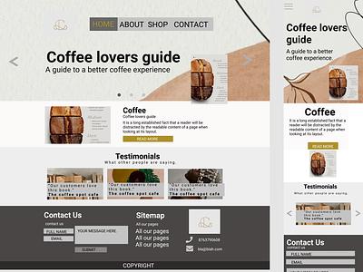 Coffee lovers flat web ui design