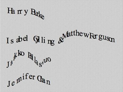 Pool warp typography