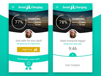 Social Charging seduction social car photoshop visual design interaction design ux design