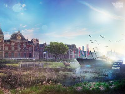 Amsterdam meets oblivion [right part] art amsterdam photomanipulation photoshop