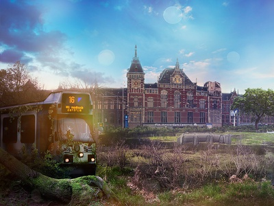 Amsterdam meets oblivion [left part] art amsterdam photomanipulation photoshop