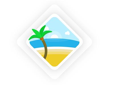 Tropical Vacation design visual design palm tree art artwork tropical illustrator illustration