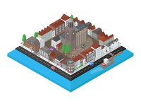 Isometric city in The Netherlands