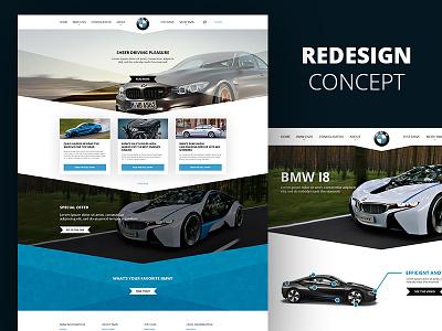 BMW Redesign concept branding interaction design website cars bmw redesign webdesign visual design ux design