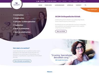 Orthopedic clinic - Website redesign photoshop visual design web design
