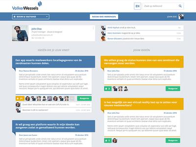 Idea pitcher platform social medium visual design photoshop web design interaction design