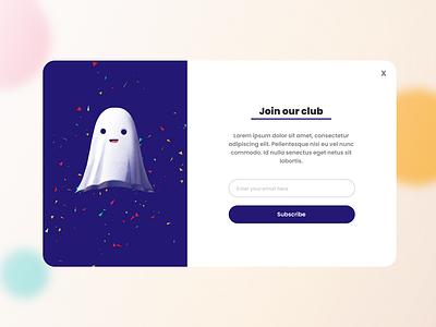 Design of website pop-up typography ux ui design figma