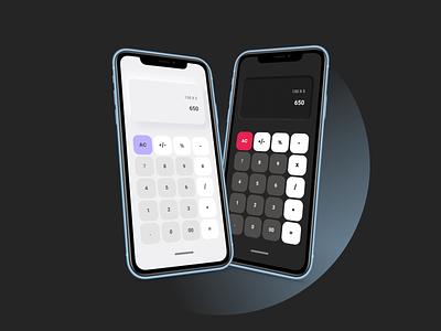 Calculator design ui illustration ux figma design