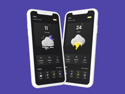 Design of weather app application app clean uxdesign uidesign uiux weather ui vector branding logo 3d typography illustration ux figma design