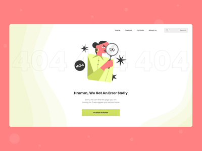 Design of 404 page colorful clean dribbble uiux uxui 404design 404page 404 uidesign uxdesign vector branding logo 3d typography ui illustration ux figma design