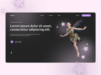 Website Design uxdesign webdesign colors fairy uidesign website vector branding logo 3d ui typography illustration ux figma design