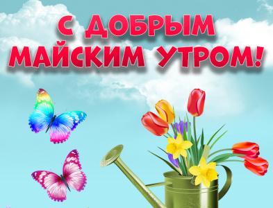 С добрым майским утром! Открытки! Картинки! Май! Весна! бабочки бабочка цветы открытки картинки с добрым утром открытки доброе утро картинка открытка доброе утро