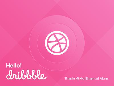 Hello Dribbble invite hello simple creative pink first shot debut dribbble hello dribbble