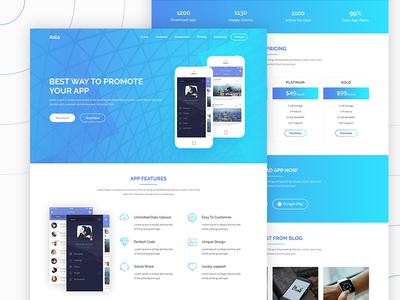 Asla App Landing Page landing page clean ui ux design web app minimal website
