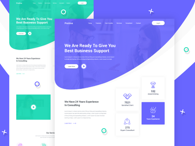 Proline - Business Consulting Landing Page landing page consulting modern design clean website web ux ui
