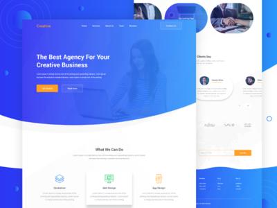 Creative - Design Agency Landing Page ui ux web website clean design modern agency landing page