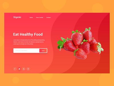 Fruits Website Header header home page ui ux landing page website web design modern