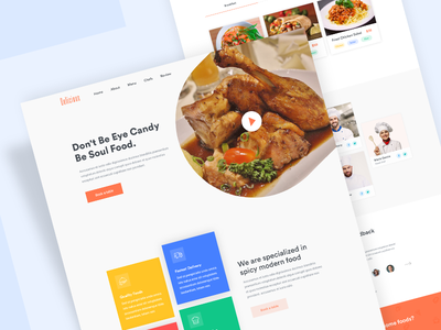 Restaurant Landing Page creative website design restaurant homepage food website web design restaurant landing page ux ui