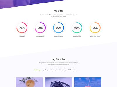 Personal Portfolio Free ( XD ) freebie xd freebie free modern portfolio design web design landing page website web ux ui