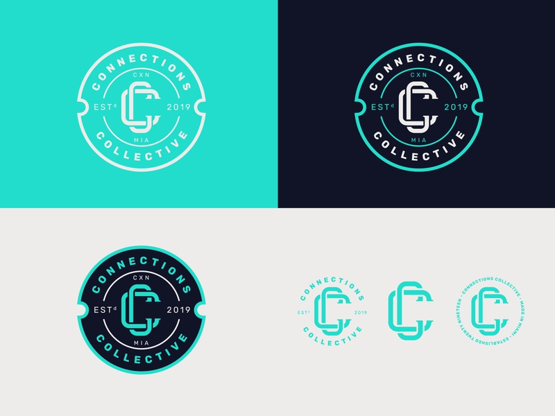 Connections Collective creative agency design illustration branding icon logo miami badge design badgedesign badge logo badge