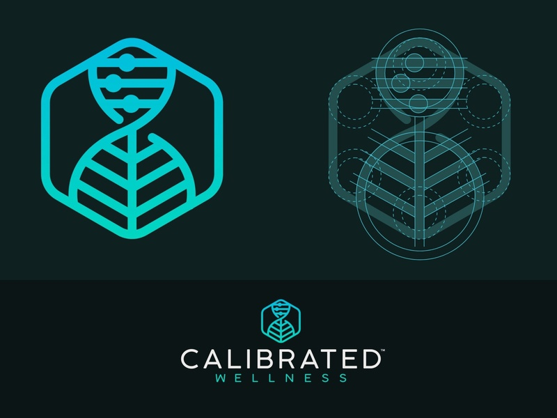 Calibrated Wellness Logo cbd logo cbd design illustration branding icon logo miami