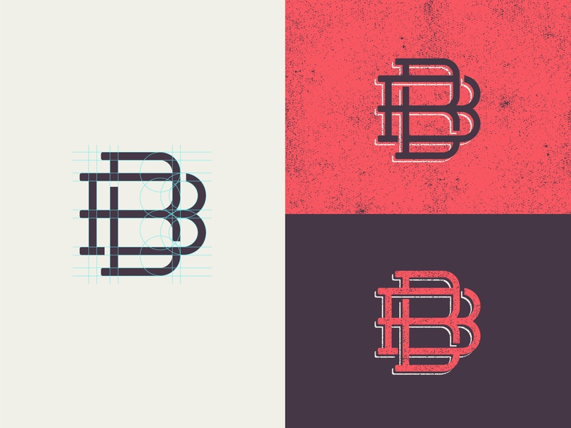 BB Monogram monogram design monogram vintage typography design branding illustration icon logo miami
