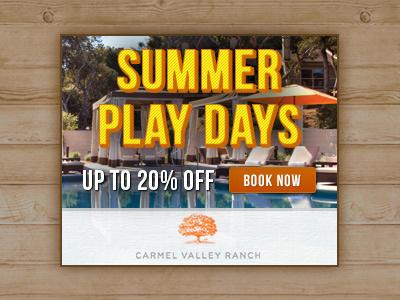 Summer Play Days banner summer cta wood textured text button