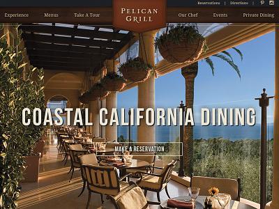 Restaurant restaurant website wood americana dining