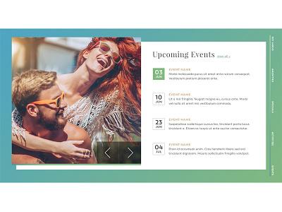Daily UI - Event Listing web ui calendar events daily ui