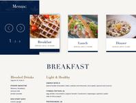Waterline Restaurant menu page dining restaurant menu