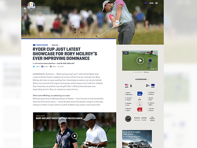 Article | PGA Ryder Cup golf editorial article