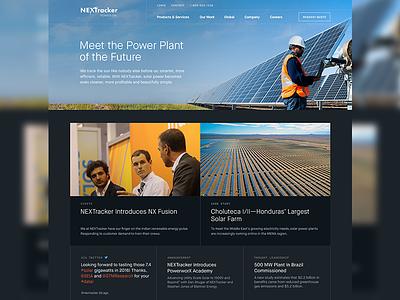 Homepage | NEXTracke homepage responsive