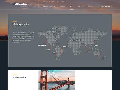 Locations | NEXTracker illustration map locations