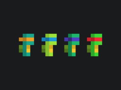 Pixel TMNT 8-bit tmnt pixel art