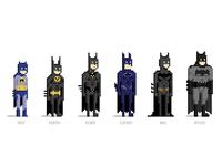 Pixel Batmans pixel art illustrator batman 8-bit
