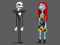 Pixel Nightmare Before Christmas