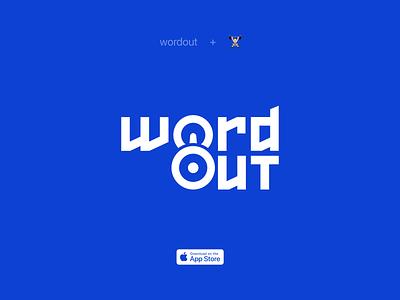 Wordout - Language Workouts branding logo words app design englsih language game app