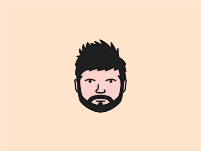 Character Design clean hairy creative flat simple design character